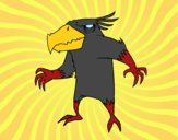 Desenho Pássaro monstro maligno pintado por NdPraFazer