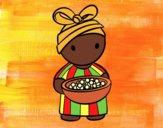 Desenho Rapariga africana pintado por Craudia