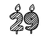 Desenho de 29 anos para colorear