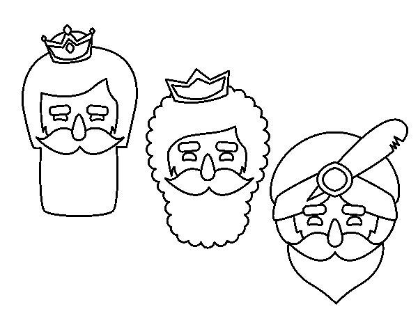 Desenho de 3 homens sábios para Colorir