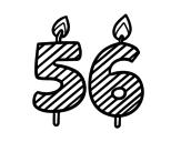 Desenho de 56 anos para colorear