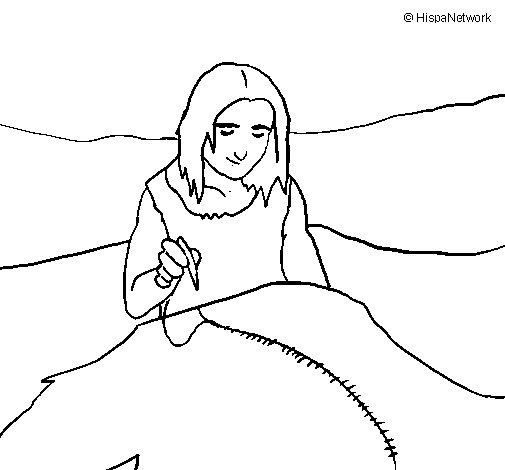 Desenho de A coser peles para Colorir
