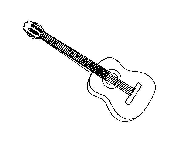 Desenho de A guitarra espanhola para Colorir