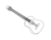 Desenho de A guitarra espanhola para colorear
