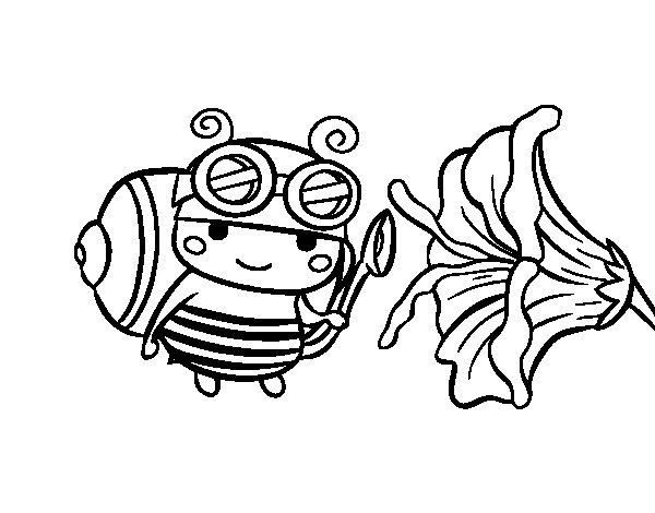 Desenho de Abelha catadora para Colorir