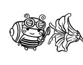 Desenho de Abelha catadora para colorear