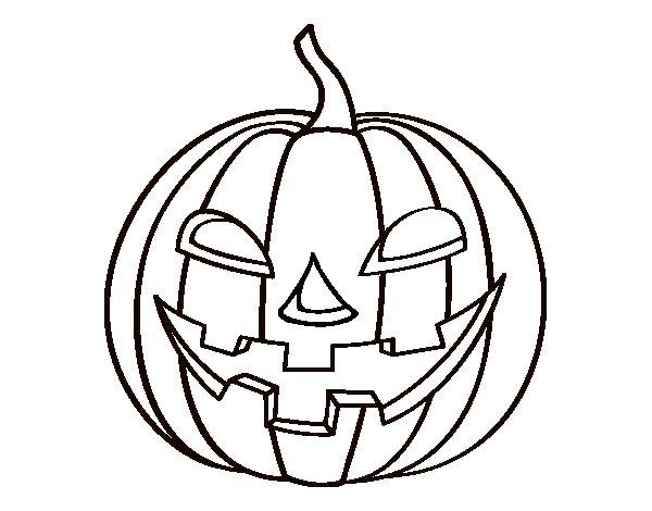 Desenho de ab bora do mal para colorir - Calabaza halloween para colorear ...