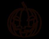 Desenho de Abóbora do mal para colorear