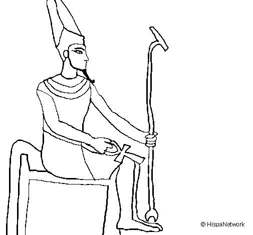 Desenho de Amon para Colorir