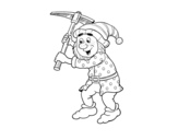 Desenho de Anão trabalhador para colorear