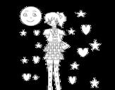 Dibujo de Anime jovem
