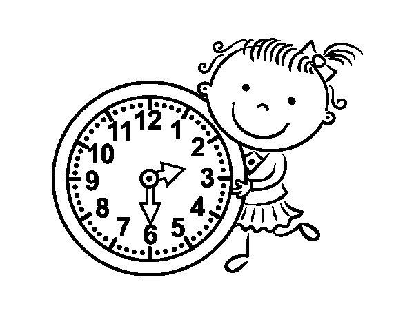 Desenho de Aprender as horas para Colorir