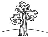 Desenho de Árvore fantasia para colorear
