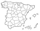 Desenho de As províncias de Espanha para colorear