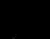 Desenho de Astronauta com foguete para colorear