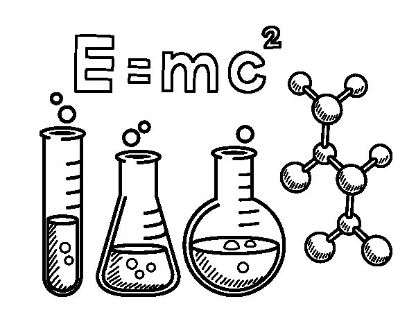 Desenho de Aula de química para Colorir