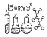 Desenho de Aula de química para colorear