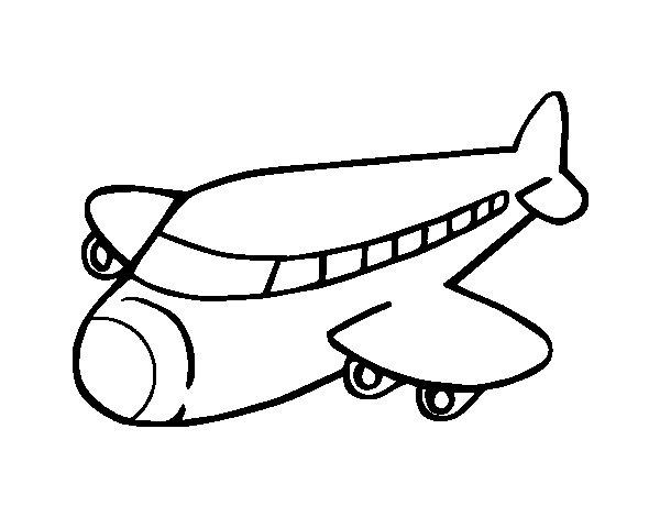Desenho de Avião boeing para Colorir