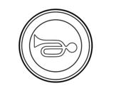 Desenho de Avisos acústicos proibida para colorear