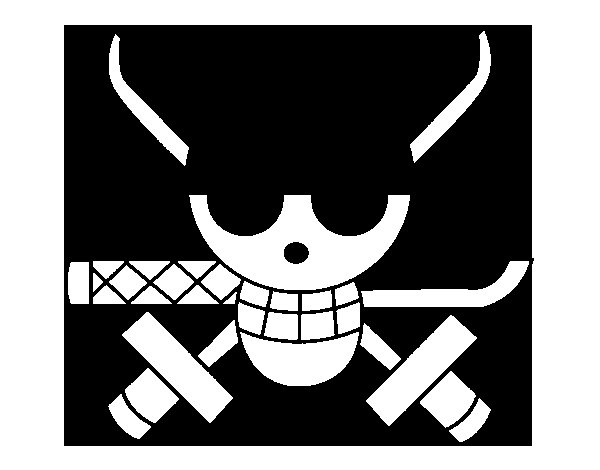 Desenho de Bandeira de Zoro para Colorir