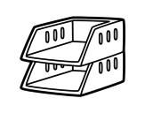 Desenho de Bandejas empilháveis para colorear