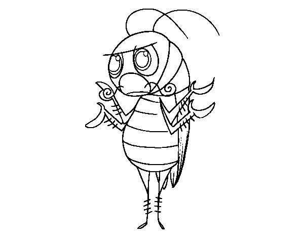Desenho de Barata comum para Colorir