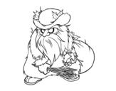 Desenho de Belsnickel para colorear