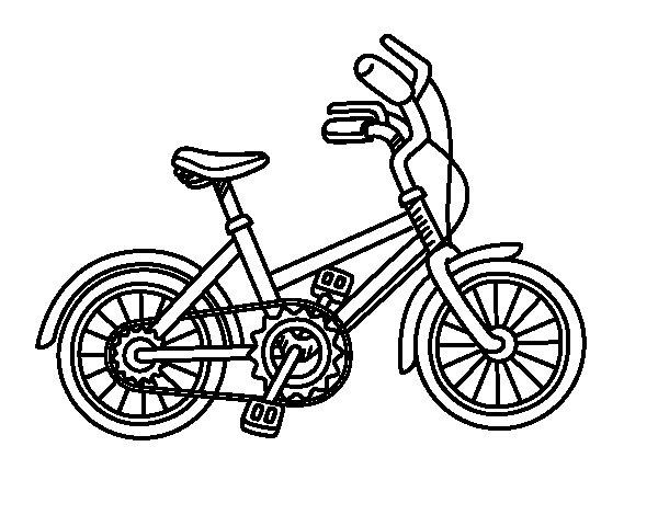Desenho de Bicicleta para as crianças para Colorir