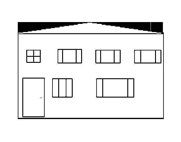 Desenho de Bloco de apartamentos para Colorir