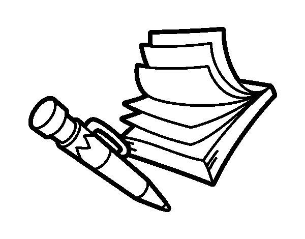 Desenho de bloco de notas para colorir Coloring book note 8
