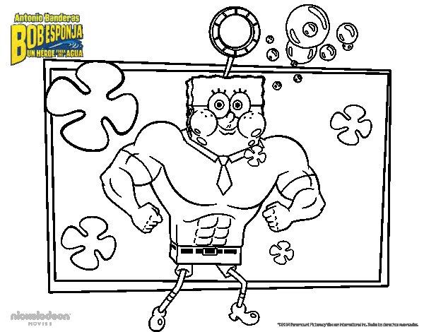 Desenho de Bob Esponja - A Invencibolha para Colorir