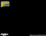 Desenho de Bob Esponja - A Invencibolha para colorear