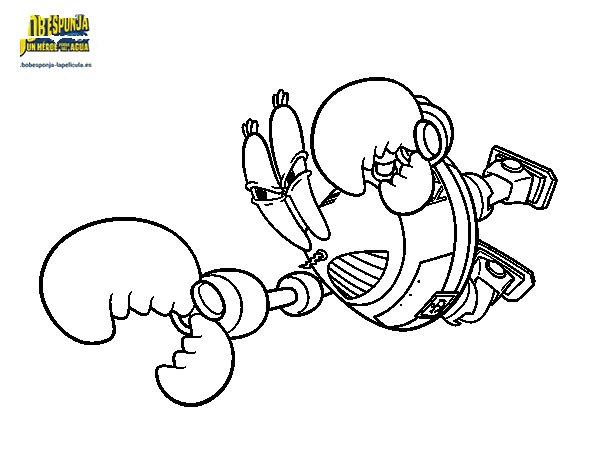Desenho de Bob Esponja - Lorde Pinça-Tudo para o ataque para Colorir