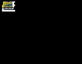 Desenho de Bob Esponja - Lorde Pinça-Tudo para o ataque para colorear