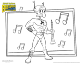 Desenho de Bob Esponja - Sopro ardido para colorear