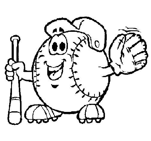 Desenho de Bola de basebol para Colorir