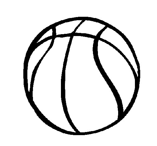 Desenho de Bola de basquete para Colorir