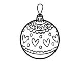Desenho de Bola de natal carimbado para colorear