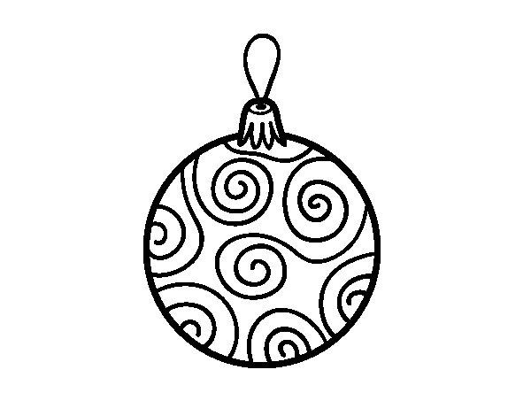 Desenho de bola decorada da rvore de natal para colorir for Dibujos de navidad bolas