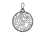 Desenho de Bola decorada da árvore de Natal para colorear