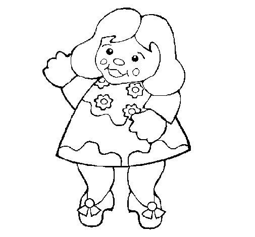 Desenho de Boneca para Colorir