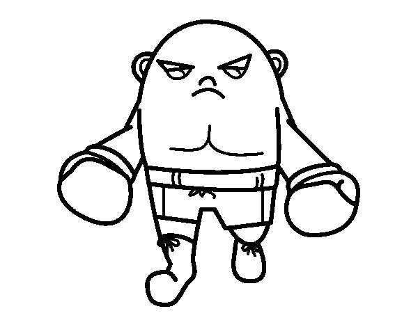 Desenho de Boxeador calvo para Colorir