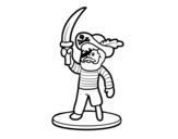 Desenho de Brinquedo de pirata para colorear