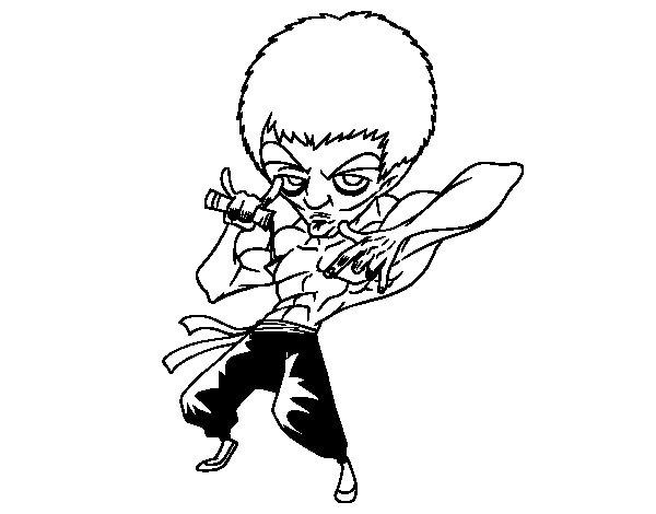 Desenho de Bruce Lee para Colorir