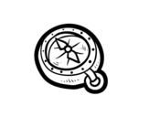 Desenho de Bússola pirata para colorear