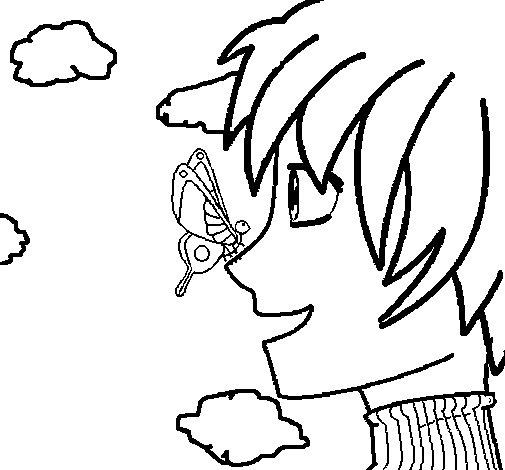 Desenho de Butterfly para Colorir