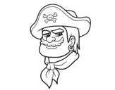 Desenho de Cabeça do pirata para colorear