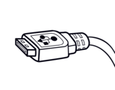 Desenho de Cabo USB para colorear