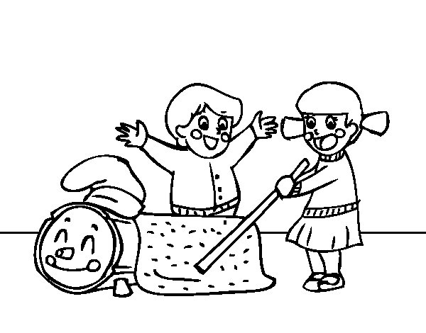 Desenho de Caga Tió para Colorir