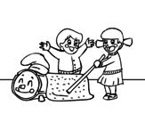 Dibujo de Caga Tió